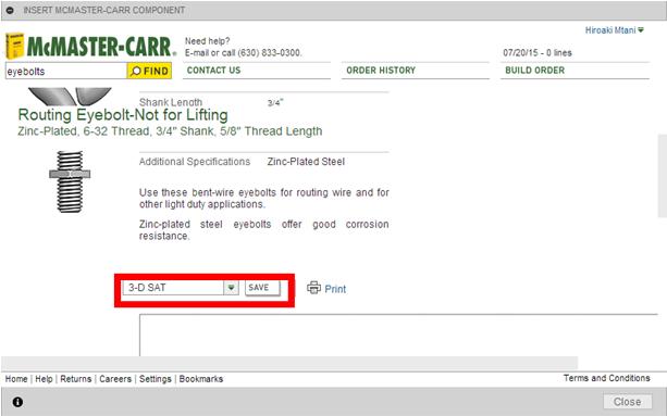 McMaster-Carrコンポーネントを挿入-使い21
