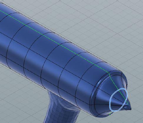 拡大・縮小しながら段を付けた形状を作る
