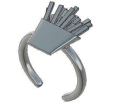 「3Dプリンターでアクセサリーを作る」ポテトの指輪を作ってみた その①