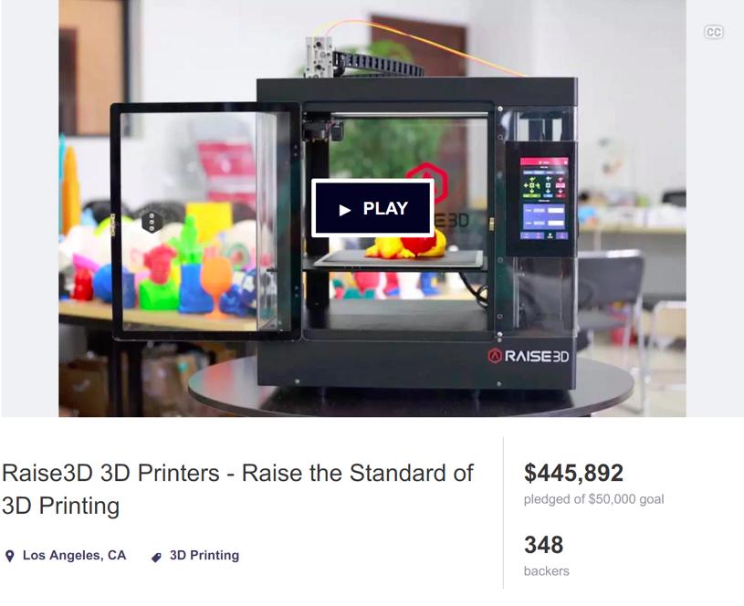 最新3DプリンターRaise3D! DMM.make AKIBAより、ライブ記事更新