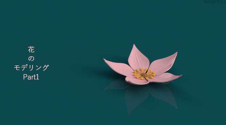花のモデリング