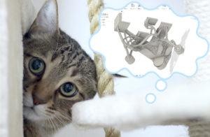 ネコジェネ ~猫との共存のためにFusion 360のジェネレーティブデザインを3Dプリントしてみた~