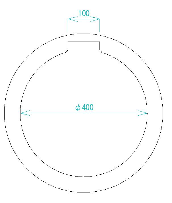 内側の円を選択する