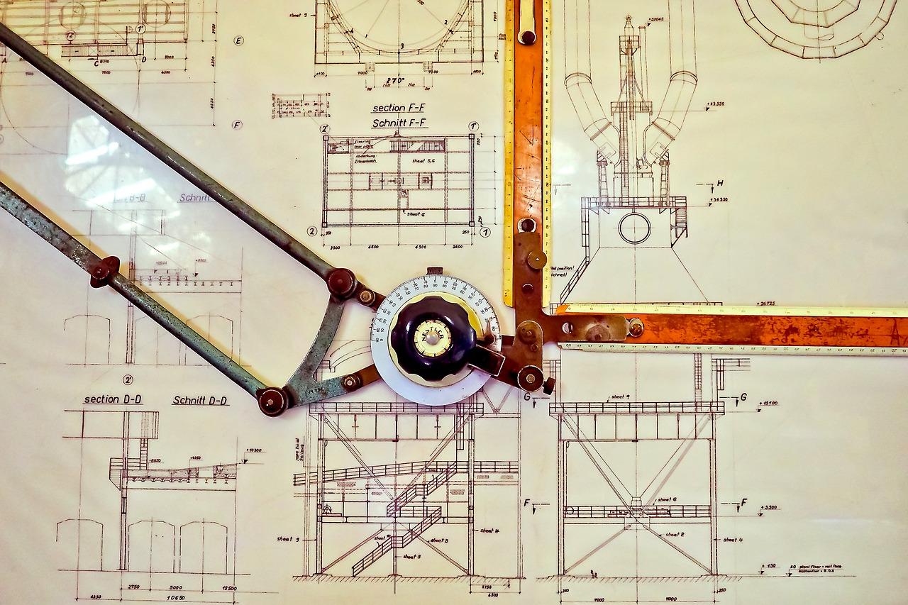 2DCADはドラフターで手書き製図のように設計できる