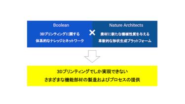 株式会社BooleanとNature Architects株式会社、ロボット関連部品製造の変革を目指し業務提携へ!