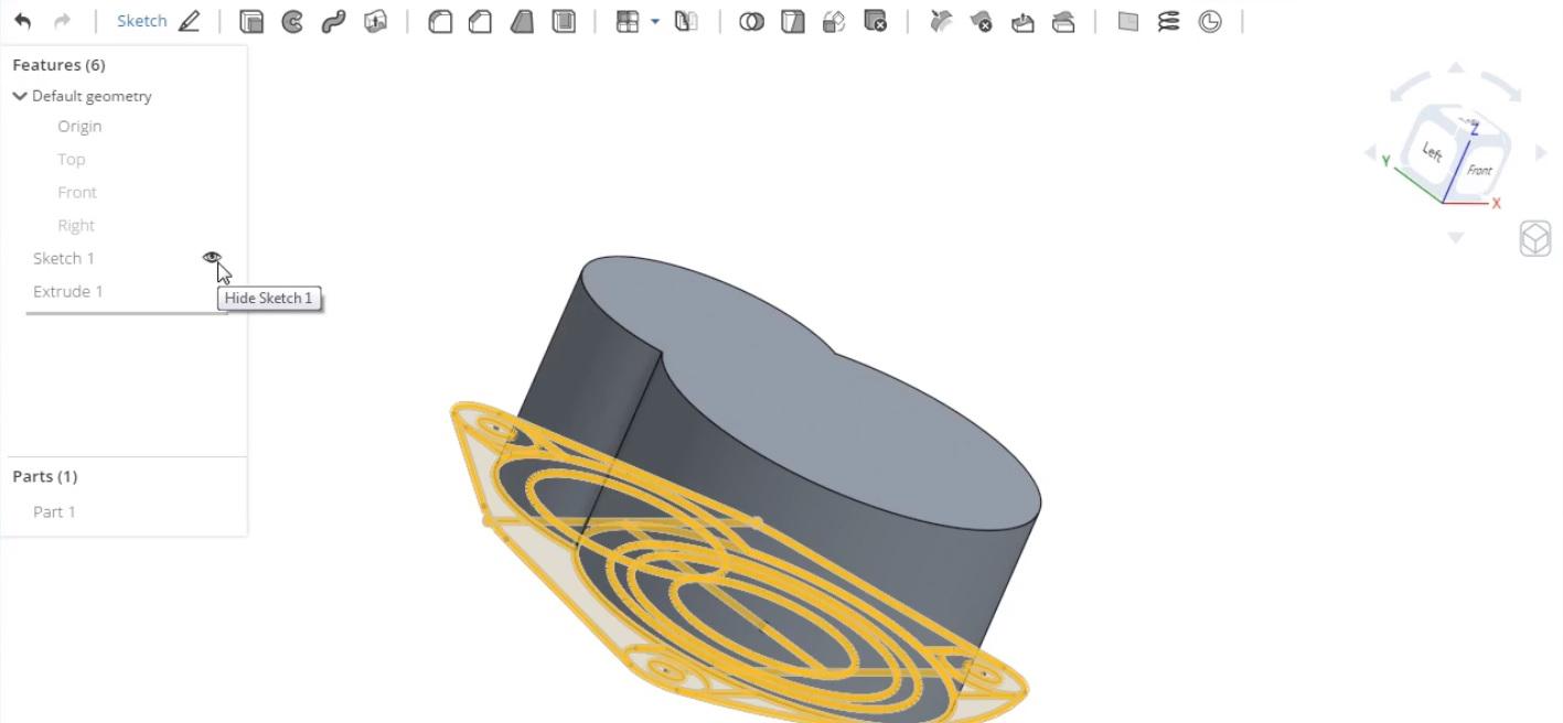 押し出い機能を使った3Dモデリング
