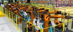 FAプロダクツの自動車部品のロボット溶接工程における3D動作シミュレーション技術が「地域産業デジタル化支援事業」に採択!
